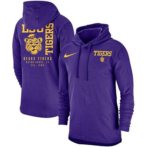Men's Nike Purple LSU Tigers Vault SJY Club Hooded Long