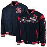 Men's JH Design Navy St. Louis Cardinals Wool Reversible Full-Snap Jacket
