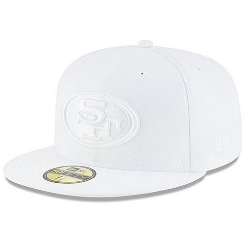 lace up in separation shoes finest selection Men's New Era San Francisco 49ers White on White 59FIFTY Fitted ...