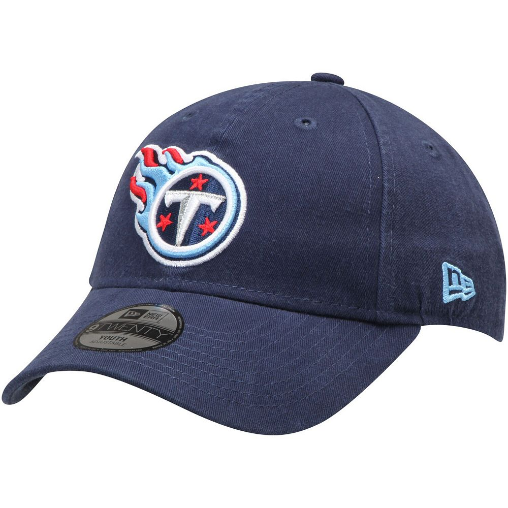 Youth New Era Navy Tennessee Titans Primary Core Classic 9TWENTY Adjustable Hat