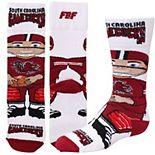 Youth For Bare Feet South Carolina Gamecocks Bobble Head Quarter-Length Socks