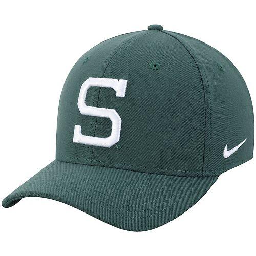 Men's Nike Green Michigan State Spartans Classic Logo 99 Swoosh Performance Flex Hat