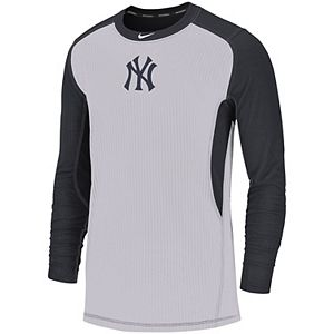 Men's Nike Gray/Navy New York Yankees Authentic Collection Game Long Sleeve T-Shirt