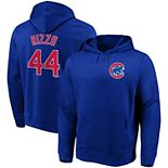 Men's Majestic Anthony Rizzo Royal Chicago Cubs Authentic Name & Number Pullover Hoodie