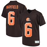 Youth Baker Mayfield Brown Cleveland Browns Player Name & Number V-Neck Top