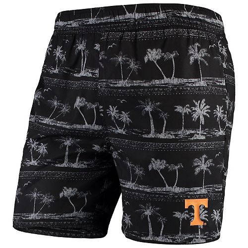 Men's Colosseum Black Tennessee Volunteers Maui Swim Shorts