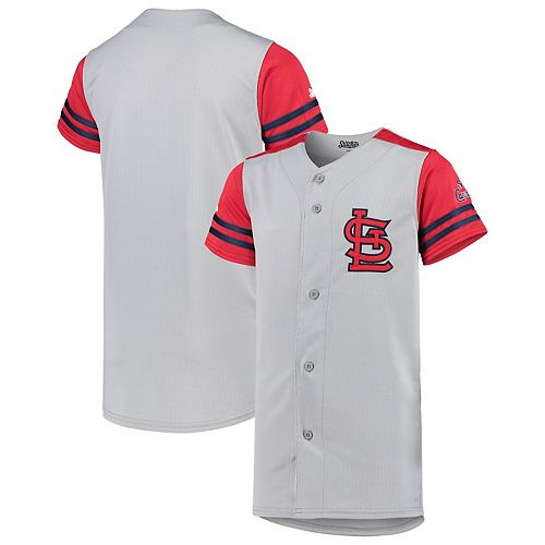 quality design 54554 7e80a Youth Stitches Gray/Red St. Louis Cardinals Team Jersey
