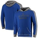 Men's Fanatics Branded Royal/Gray Los Angeles Dodgers Iconic Colorblock Pullover Hoodie