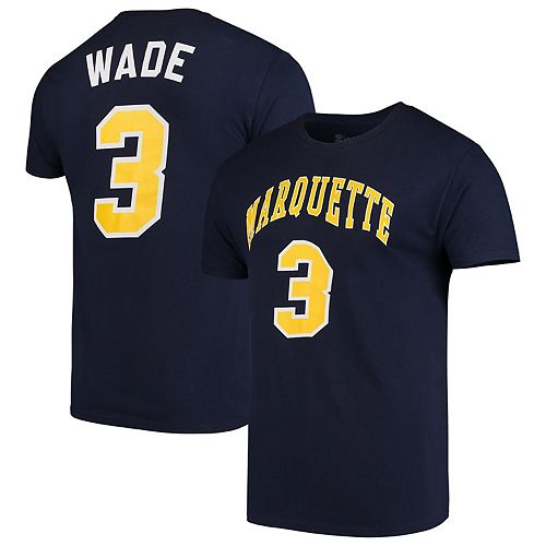 online store 10f7f e9bd6 Men's Original Retro Brand Dwyane Wade Blue Marquette Golden Eagles Alumni  Basketball Jersey T-Shirt