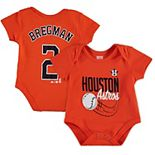 Newborn & Infant Majestic Alex Bregman Orange Houston Astros Baby Slugger Name & Number Bodysuit