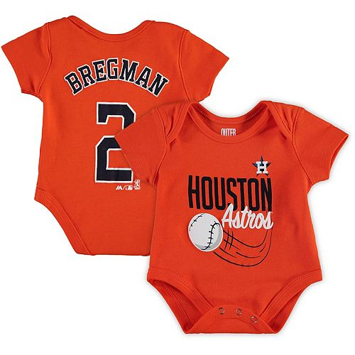 new concept 32834 cf9cb Newborn & Infant Majestic Alex Bregman Orange Houston ...