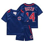 Newborn & Infant Majestic Anthony Rizzo Royal Chicago Cubs Ballpark Champ Name & Number V-Neck T-Shirt & Shorts Set