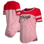 Women's New Era Red Kansas City Chiefs Glitter Gel T-Shirt