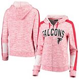 Women's New Era Red Atlanta Falcons Athletic Space Dye French Terry Full-Zip Hoodie