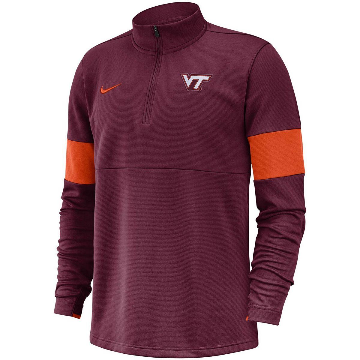 Men's Nike Maroon Virginia Tech Hokies 2019 Coaches Sideline Performance Half-Zip Pullover Jacket f5wz0