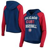 Women's New Era Royal/Red Chicago Cubs Loose French Terry Pullover Hoodie
