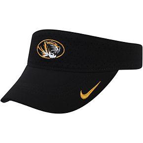 Missouri Tigers Nike Sideline Performance Visor  Black