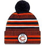 Youth New Era Navy/Orange Chicago Bears 2019 NFL Sideline Home Logo Sport Knit Hat