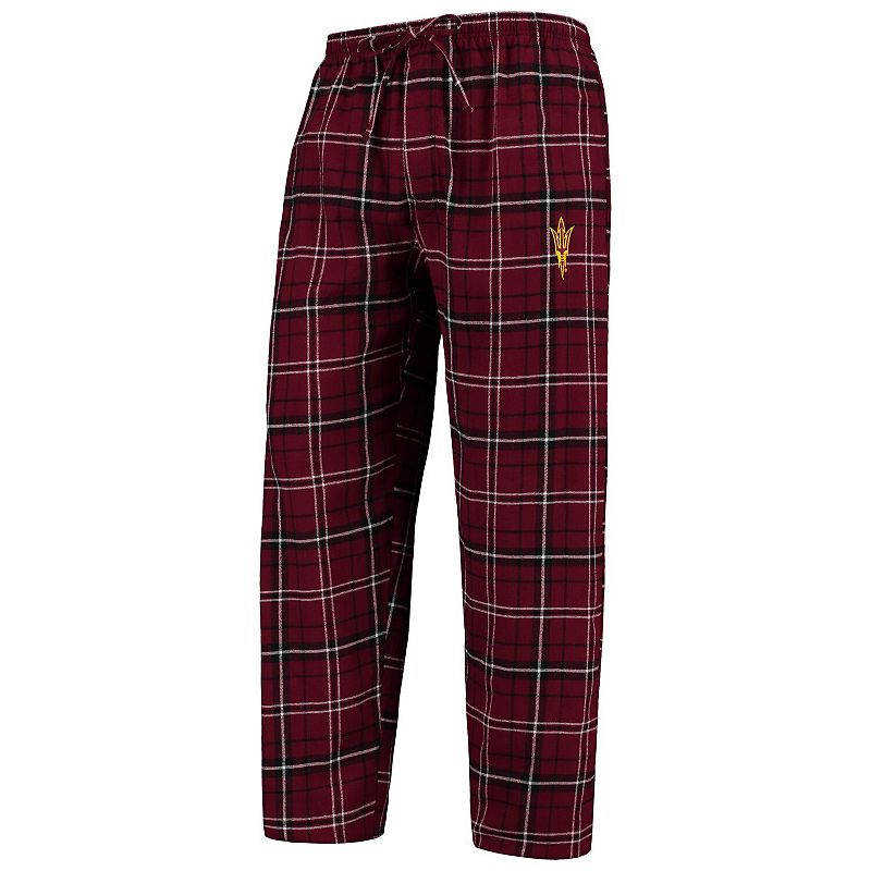 Men's Concepts Sport Maroon/Black Arizona State Sun Devils College Ultimate Flannel Pants. Size: XL. Red