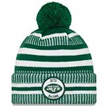 Youth New Era Green/White New York Jets 2019 NFL Sideline Home Sport Knit Hat