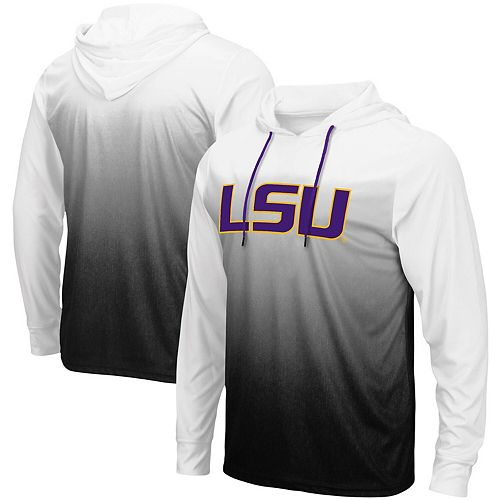 innovative design 11844 cfd66 Men's Colosseum Black LSU Tigers Magic Gradient Hooded Long Sleeve T-Shirt