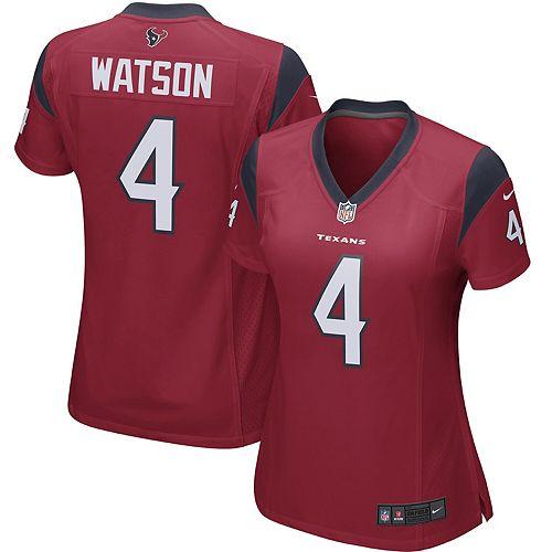 check out 3150f df424 Deshaun Watson Houston Texans Nike Women's Player Game Jersey - Red