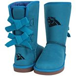 Women's Cuce Blue Carolina Panthers Patron Bow Boots