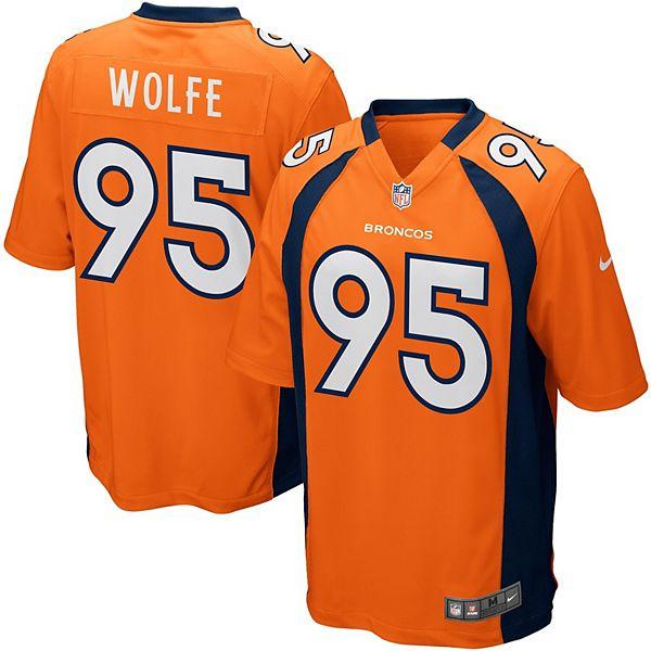 Mens Denver Broncos Derek Wolfe Nike Orange Game Jersey