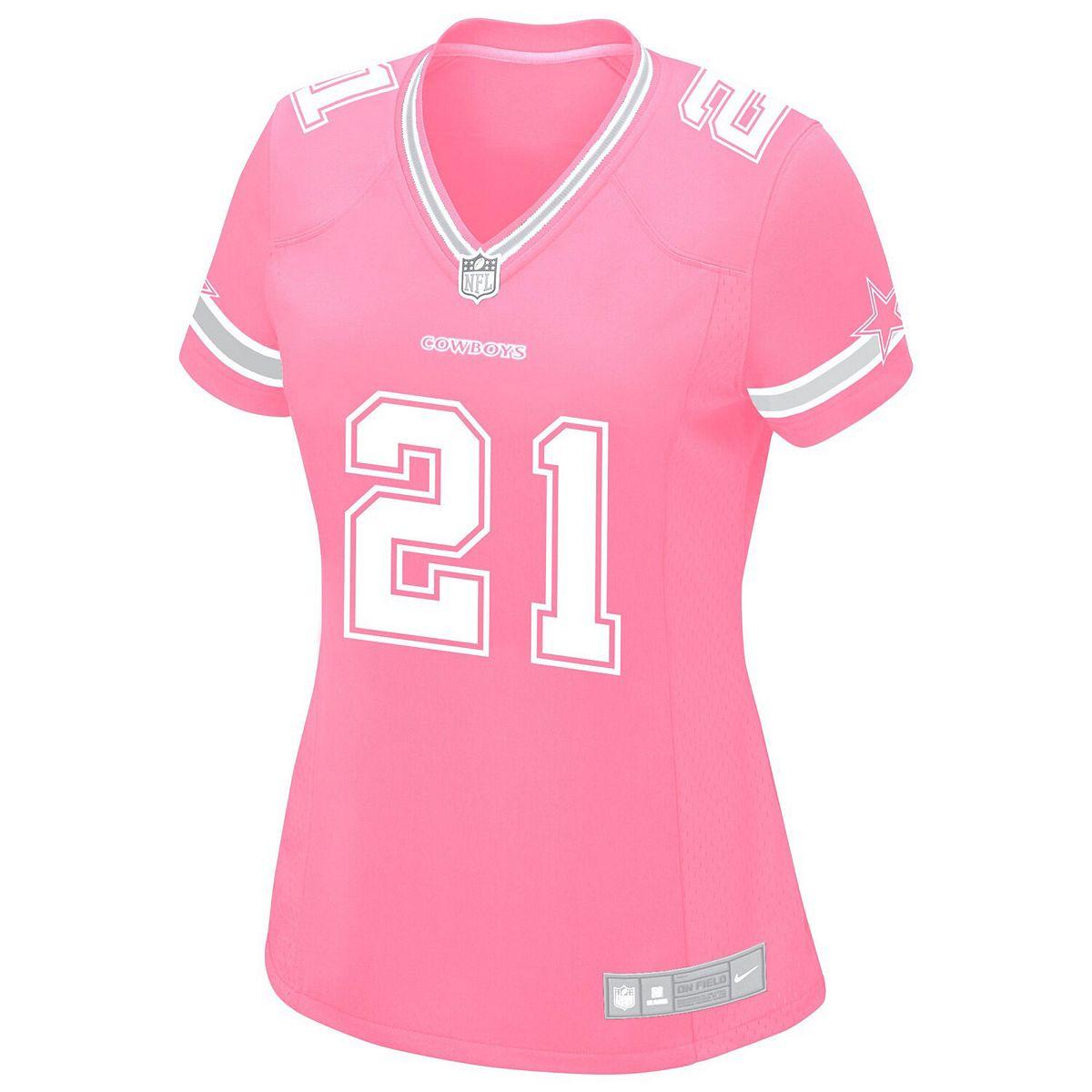 Women's Nike Ezekiel Elliott Pink Dallas Cowboys Game Jersey K47BW