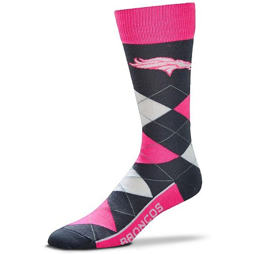 For Bare Feet Denver Broncos Line Up Argyle Melange Socks
