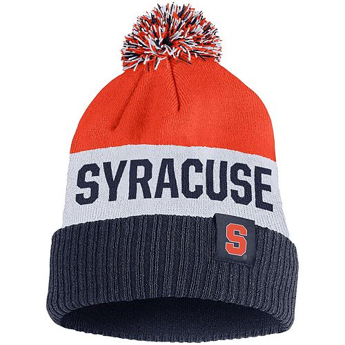 Men's Nike Orange Syracuse Orange Team Name Cuffed Knit Hat with Pom