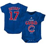 Newborn & Infant Majestic Kris Bryant Royal Chicago Cubs Stitched Player Name & Number Bodysuit