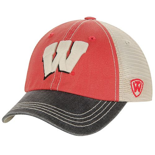 Youth Top of the World Red Wisconsin Badgers Rookie Offroad Trucker Snapback Hat