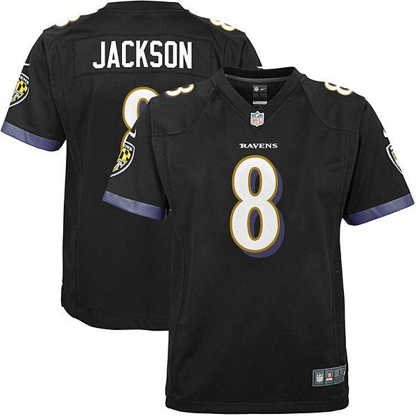 Youth Nike Lamar Jackson Black Baltimore Ravens Game Jersey