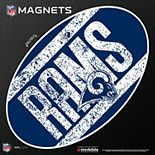 """Los Angeles Rams Vintage 12"""" x 12"""" Oval Full Color Magnet"""