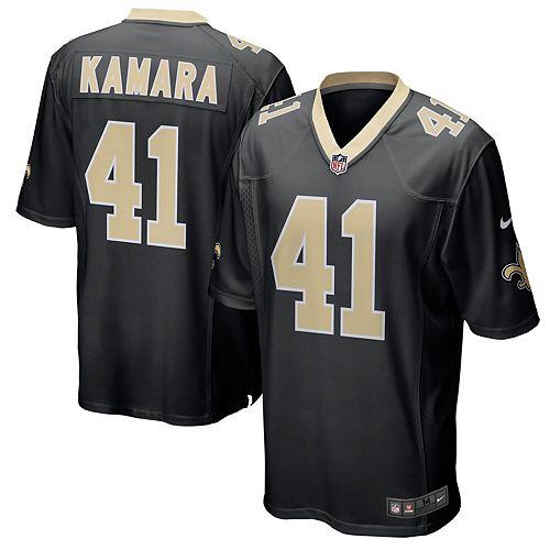Men's Nike Alvin Kamara Black New Orleans Saints Game Jersey