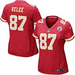Women's Nike Travis Kelce Red Kansas City Chiefs Game Jersey