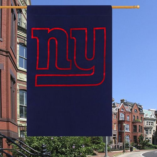 """New York Giants 29"""" x 43"""" Glitter Suede House Vertical Flag"""