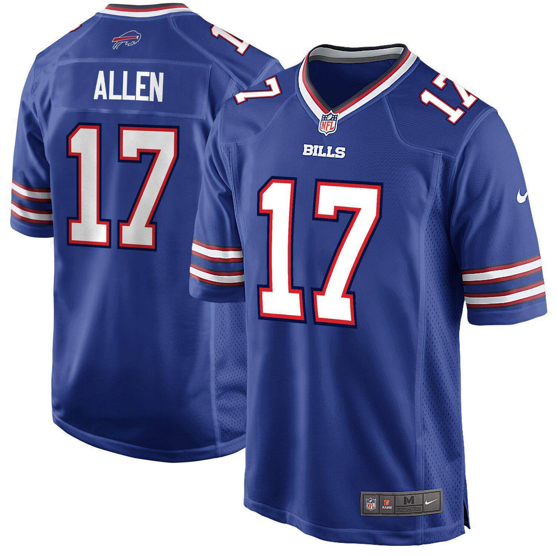 Josh Allen Royal Buffalo Bills Game Jersey