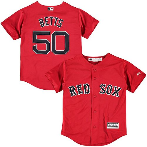 Youth Mookie Betts Red Boston Red Sox Official Cool Base Player Jersey