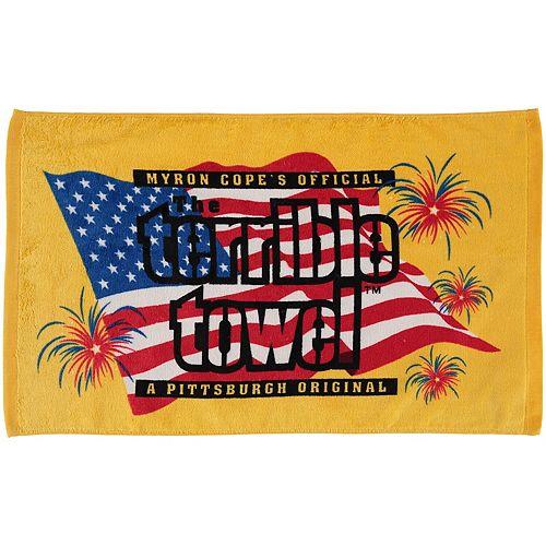 """Pittsburgh Steelers 25.25"""" x 15"""" Patriotic Terrible Towel"""