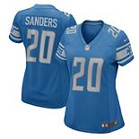 Women's Nike Barry Sanders Blue Detroit Lions 2017 Retired Player Game Jersey