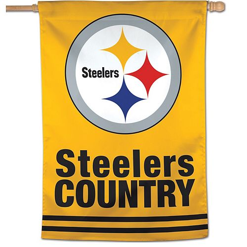 """WinCraft Pittsburgh Steelers 28"""" x 40"""" Country Single-Sided Vertical Banner"""