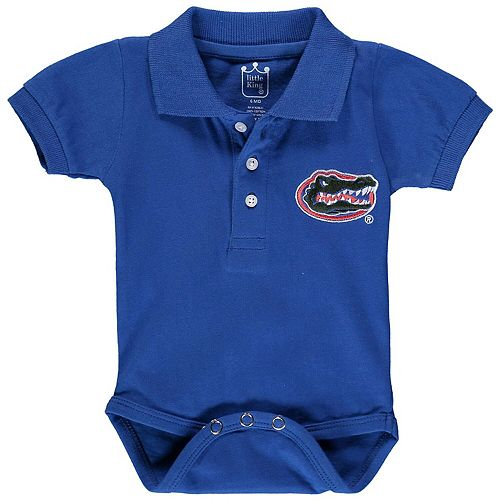 Infant Royal Florida Gators Polo Bodysuit