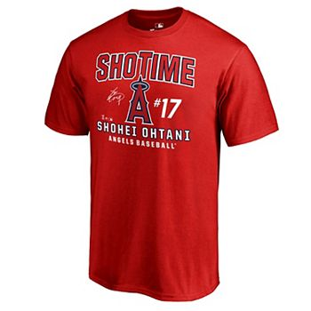 buy popular 4221b 8397e Men's Fanatics Branded Shohei Ohtani Red Los Angeles Angels Hometown  Collection T-Shirt