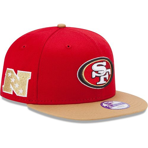 Youth New Era Scarlet/Gold San Francisco 49ers Baycik 9FIFTY Snapback Adjustable Hat