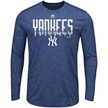 Men's Majestic Navy New York Yankees Unstoppable Force Long Sleeve Cool Base T-Shirt