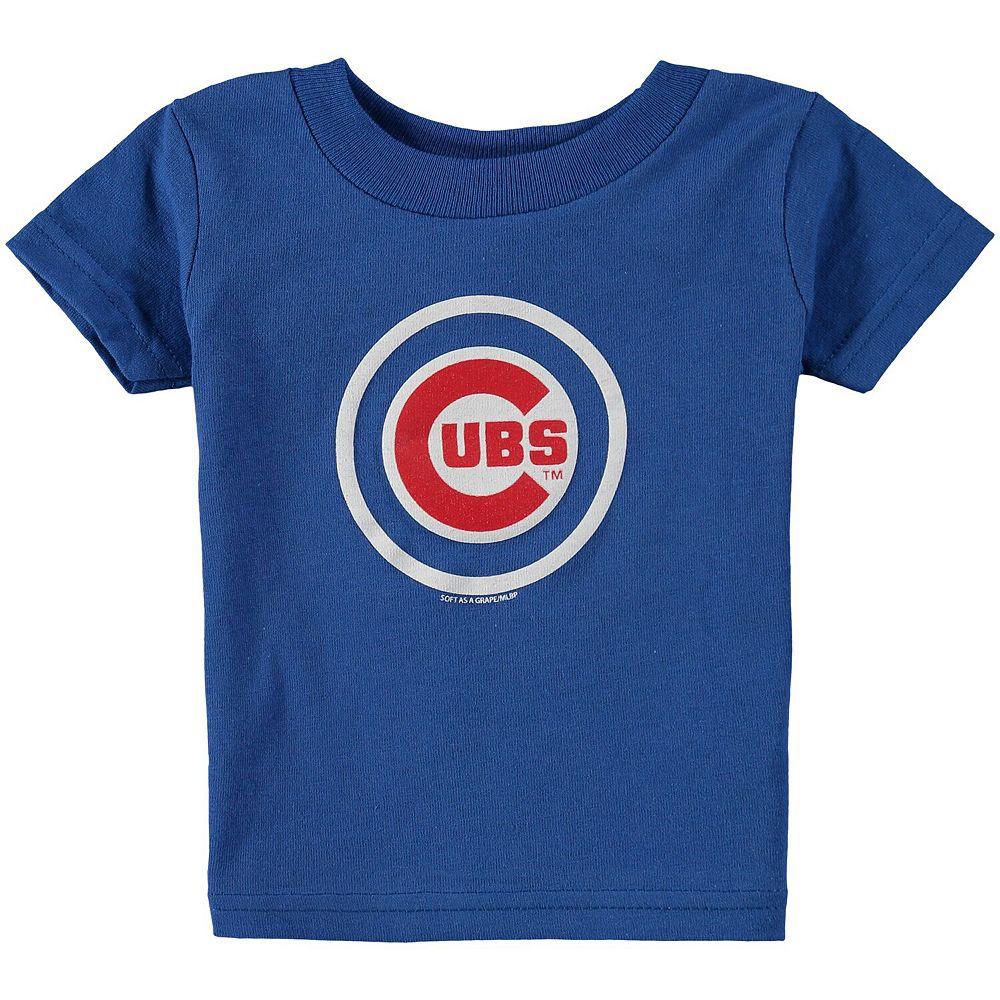Infant Soft as a Grape Royal Chicago Cubs Wordmark T-Shirt