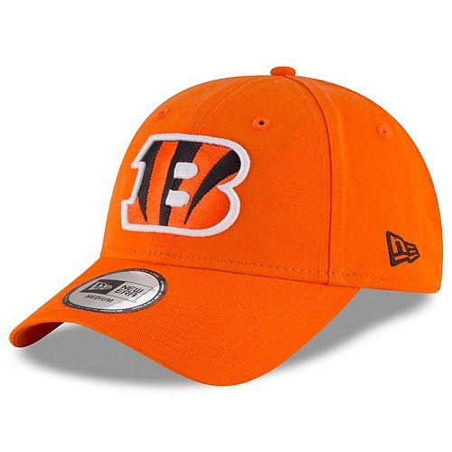 Men's New Era Orange Cincinnati Bengals NE Core Fit 49FORTY Fitted Hat