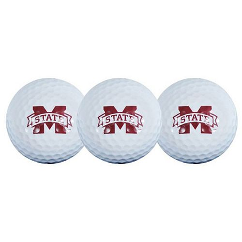 Mississippi State Bulldogs Pack of 3 Golf Balls